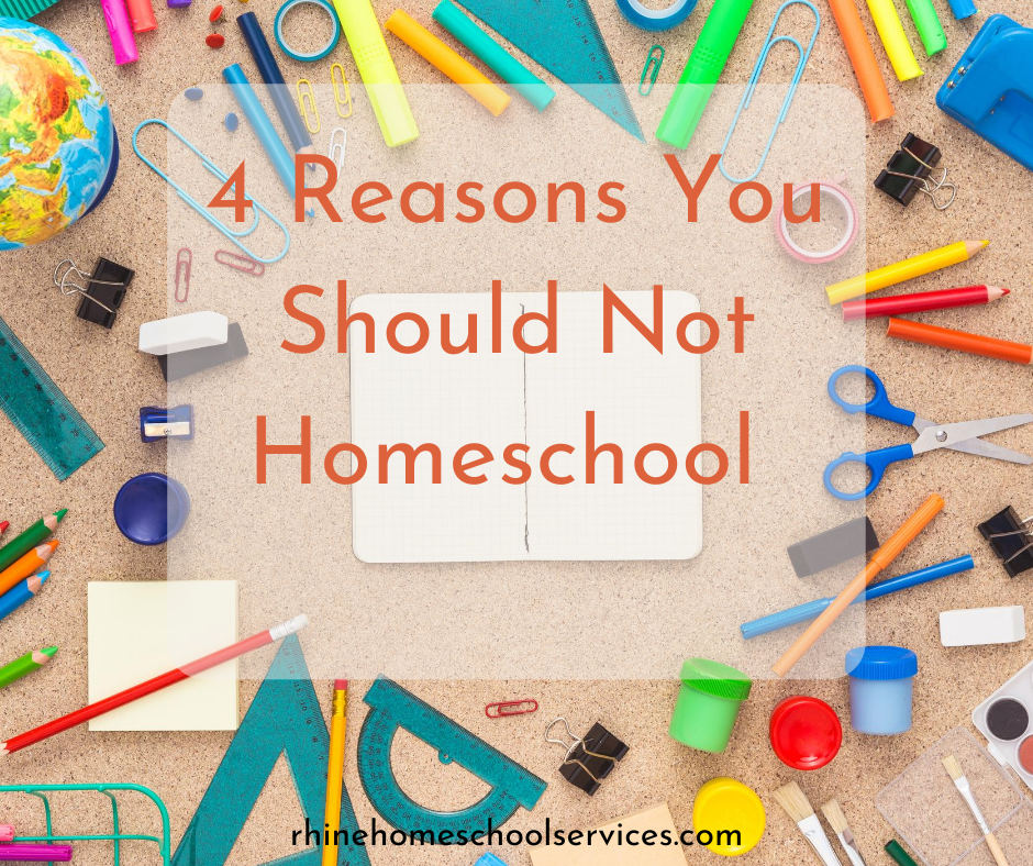 Reasons You Should Not Homeschool