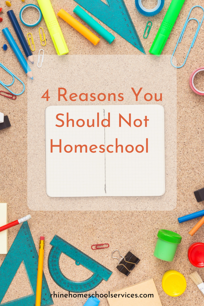 4 Reasons you should not homeschool