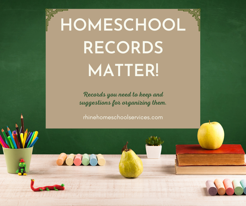 Homeschool Records Matter