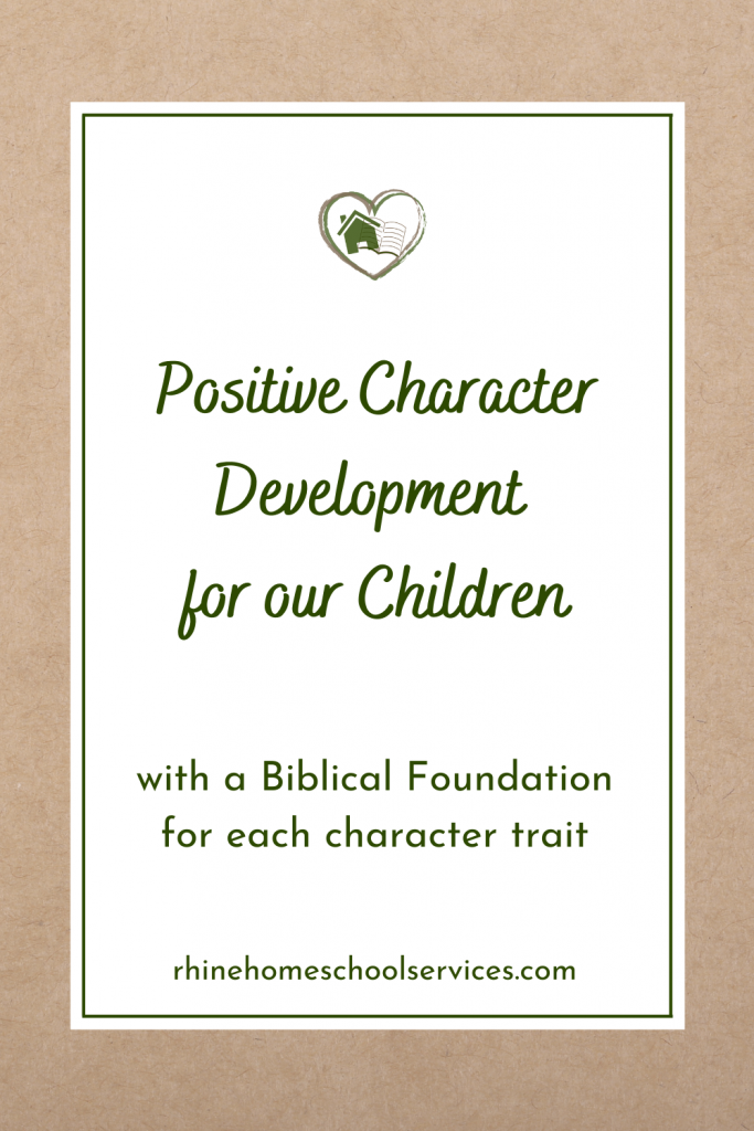 Positive Character Development - Get Your Copy Here.