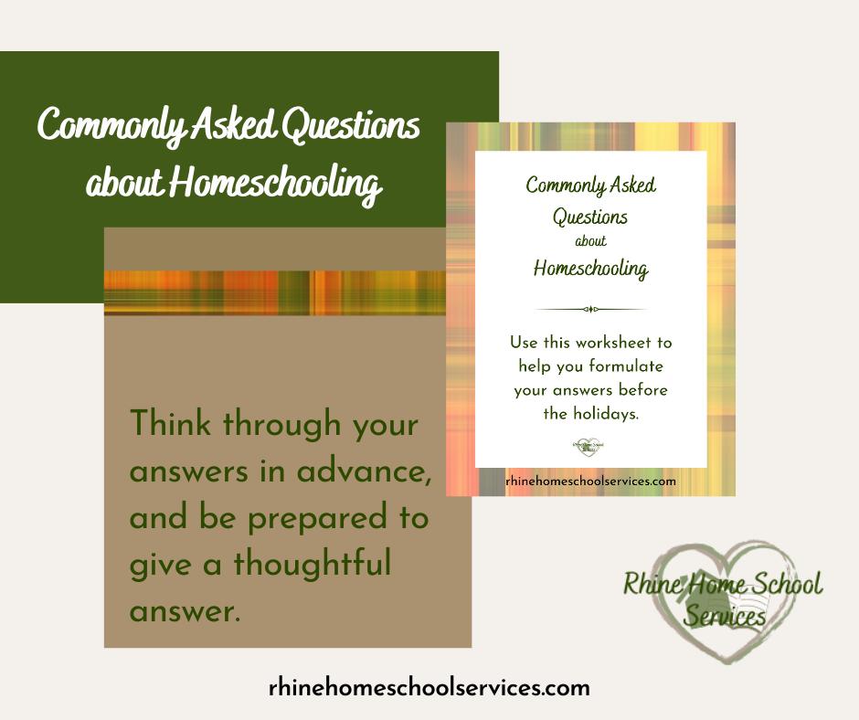 Common Homeschool Questions