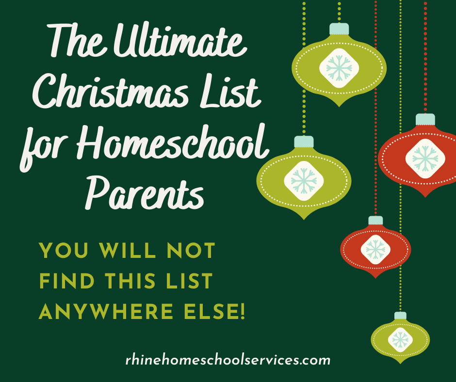 Ultimate Christmas List for Homeschool Parents