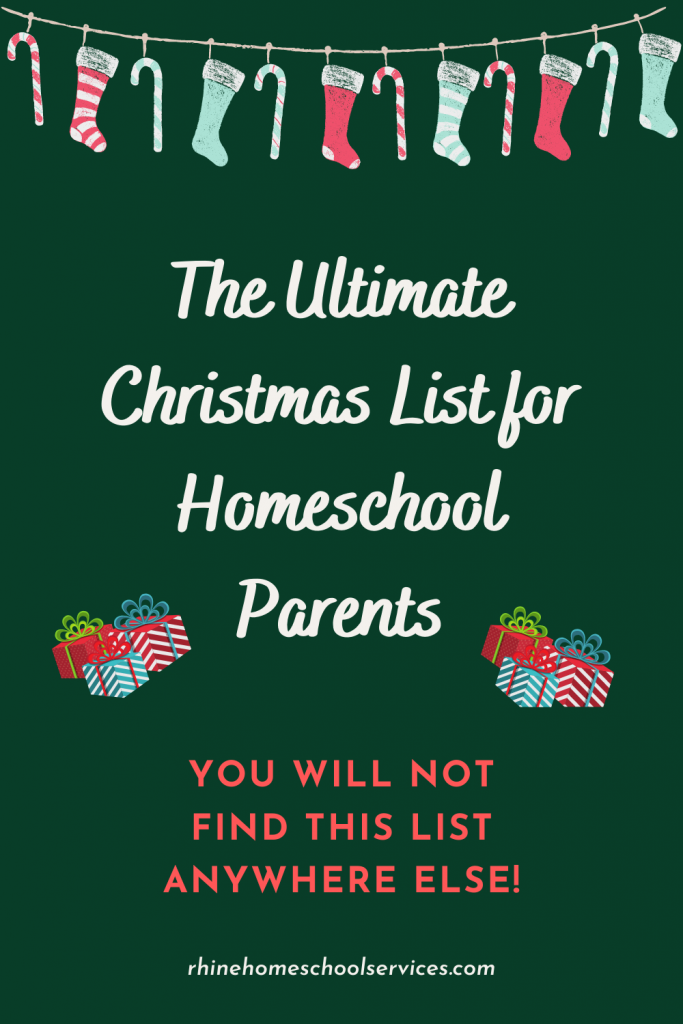 Ultimate Christmas List for Homeschool Parents