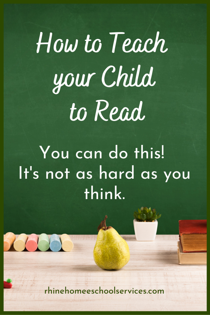 You can teach your child to read