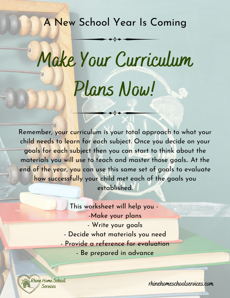 Cover of Curriculum Planning Worksheet